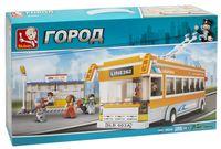 """Конструктор """"Троллейбус на остановке"""" (457 деталей)"""