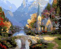 """Картина по номерам """"Средневековая церковь"""" (400х500 мм)"""