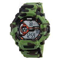 Часы наручные (камуфляжные зелёные; арт. SKMEI 1233-1)
