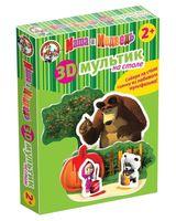 """Пазл """"3D Мультики на столе. Маша и Медведь. Краски"""""""
