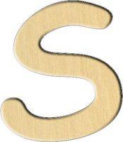 """Заготовка деревянная """"Английский алфавит. Буква S"""" (26х30 мм)"""