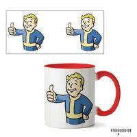 "Кружка ""Пип-бой из Fallout"" (арт. 109, красная)"