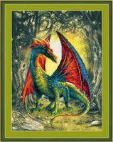 """Вышивка крестом """"Лесной дракон"""" (300х400 мм)"""