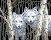 """Канва с нанесенным рисунком """"Два волка"""""""