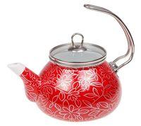"""Чайник стальной эмалированный """"Красный шелк"""" (2,2 л)"""