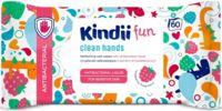 """Влажные салфетки детские """"Kindii fun. Антибактериальные, с запахом малины"""" (60 шт.)"""