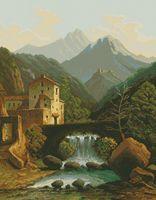 """Вышивка крестом """"Замок в горах"""" (460x600 мм)"""