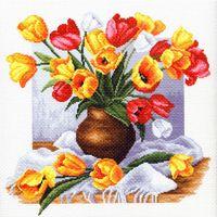 """Канва с нанесенным рисунком """"Тюльпаны"""" (арт. 1269)"""