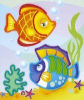 """Вышивка бисером """"Морские рыбки"""" (150х180 мм)"""