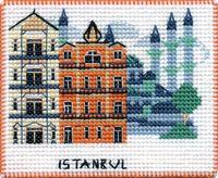 "Вышивка крестом ""Стамбул"" (90х70 мм; на магните)"