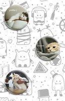 """Набор значков маленьких """"Коты"""""""