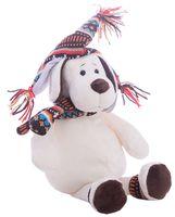 """Мягкая игрушка """"Собака в шапке"""" (18 см)"""