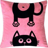 """Подушка """"Meow"""" (35x35 см; розовая)"""