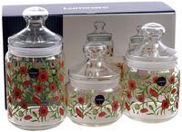 """Набор банок для сыпучих продуктов """"Fresh Blooms"""" (3 шт.)"""