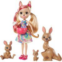 """Кукла """"Enchantimals. Камилла кенгуру и Тоут с семьей"""""""
