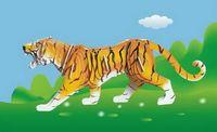 """Сборная деревянная модель """"Тигр"""""""