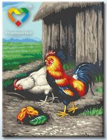 "Картина по номерам ""Во дворе"" (300x400 мм; арт. HB3040063)"