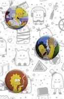 """Набор значков маленьких """"Симпсоны"""""""