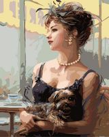 "Картина по номерам ""Дама с собачкой"" (400х500 мм)"