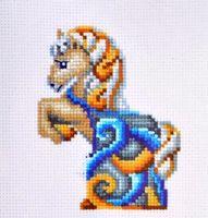 "Вышивка крестом ""Лошадь"" (110х120 мм)"