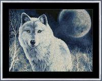 "Вышивка крестом ""Белый волк"" (313х408 мм)"
