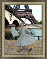 """Вышивка крестом """"Опять в Париже листопад"""" (305х400 мм)"""