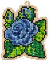 """Алмазная вышивка-мозаика """"Брелок. Синие лепестки"""" (91х113 мм)"""