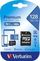 Карта памяти Mirex microSDXC UHS-I Class 10 128GB (с SD-адаптером)