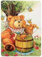 """Деревянный пазл """"Медвежонок и мед"""" (4 элемента)"""