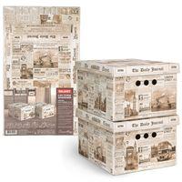 "Набор коробок складных ""England"" (2 шт.; 250х330х185 мм)"