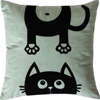 "Подушка ""Meow"" (35x35 см; серая)"