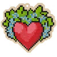 "Алмазная вышивка-мозаика ""Брелок. Сердце"" (100х90 мм)"
