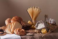 """Объемная аппликация """"Хлеб и паста"""""""