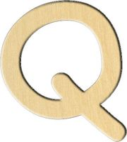 """Заготовка деревянная """"Английский алфавит. Буква Q"""" (74х82 мм)"""