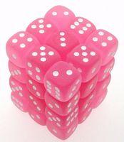 """Кубик D6 """"Изморозь"""" (розовый)"""