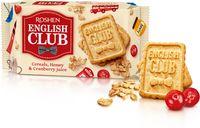 """Печенье сахарное """"English Club. Со вкусом овсяных хлопьев, меда и клюквенного сока"""" (112 г)"""