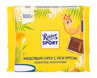 """Шоколад молочный """"Ritter Sport. С йогуртовой начинкой и медовой хрустящей крошкой"""" (100 г)"""