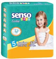 "Подгузники ""Senso baby Ecoline. Junior"" (11-25 кг, 32 шт)"