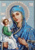 """Вышивка крестом """"Икона Иерусалимской Божией Матери"""" (150х205 мм)"""