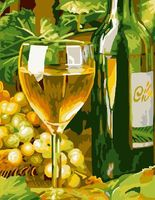 """Картина по номерам """"Белое вино"""" (300х400 мм; арт. PC3040055)"""