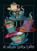 """Вышивка крестом """"Полные кружки с кофе-латте"""" (280х360 мм)"""