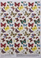 "Бумага для декупажа ""Фон. Пестрые бабочки"" (210х300 мм)"