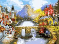 """Картина по номерам """"Мост через реку"""" (300х400 мм)"""