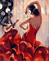 """Картина по номерам """"Страстный танец"""" (400х500 мм)"""