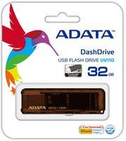 USB Flash Drive 32Gb A-Data UV110 (Brown)