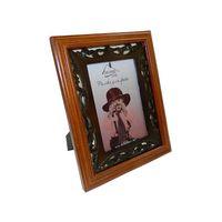 Рамка для фото деревянная с плетеной отделкой (10х15 см; арт. PX12059-1)