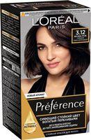 """Краска для волос """"Preference"""" (тон: 3.12, глубокий темно-коричневый)"""