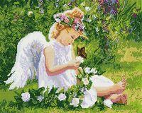 """Алмазная вышивка-мозаика """"Ангелочек в саду"""""""