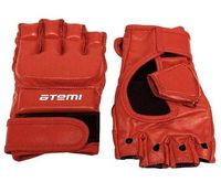 Перчатки для MMA 05-001 (XL; кожа; красные)