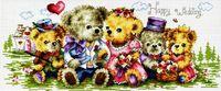"Вышивка крестом ""Семейка медвежат"" (185x450 мм)"